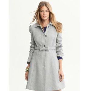 Banana republic wool belted grey coat